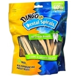 Dingo Dental Spirals for Dogs Peppermint and Parsley
