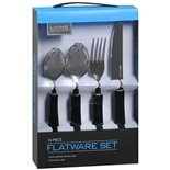 Living Solutions Flatware Set 16 Piece Assorted