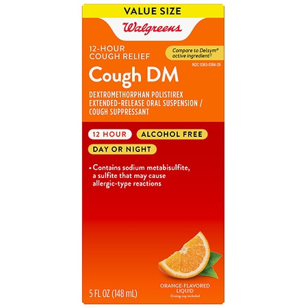 Walgreens Cough DM Liquid Orange