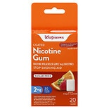 Walgreens Coated Nicotine Gum 2 mg Fruit