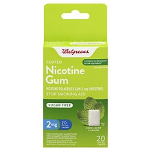 Walgreens Coated Nicotine Gum, 2mg Mint