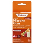 Walgreens Coated Nicotine Gum 4 mg Fruit