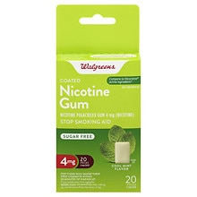 Walgreens Coated Nicotine Gum 4mg Mint