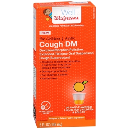 Walgreens Children & Adult Cough DM Liquid Orange