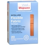 Walgreens Extra-Long Flexible Fabric Adhesive Bandages