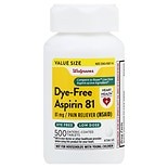 Walgreens Low Dose Dye-Free Aspirin 81 mg Enteric Coated Tablets