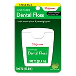 Walgreens Waxed Dental Floss Mint
