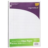 Wexford Filler Paper Wide Ruled White