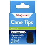 Walgreens Cane Tips 3/4 inch Black