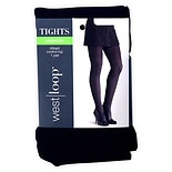 West Loop Control Top Fashion Tights Ribbed Size L/XL L/XL Black