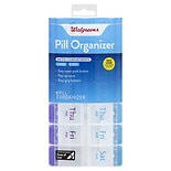 Walgreens 7-Day Pill Organizer with AM/PM Compartments Large
