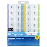 Walgreens 7-Day Pill Organizer with 28 Compartments Extra Large