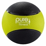 Pure Fitness Medicine Ball 8 lb Black/Lime