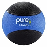 Pure Fitness Medicine Ball 10 lb Blue/Black