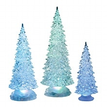 Roman LED Lighted Acrylic Christmas Trees