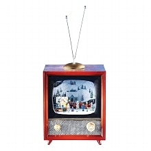 Amusements Retro Christmas TV Red