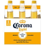 Corona Light Beer 6 Pack 12 oz Bottles