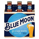 Blue Moon Belgian White Wheat Ale Beer 6 Pack 12 oz Bottles Belgian White