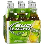 Budweiser Light Beer Lime,12 oz Bottles