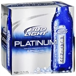 Budweiser Light Platinum Beer 12 oz Bottles