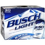 Busch Light Beer 30 Pack 12 oz Cans