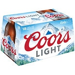 Coors Light Beer 18 Pack 12 oz Bottles 12 oz Cans