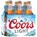 Coors Beer 6 Pack 12 oz Bottles 12 oz Bottles