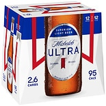 Michelob Ultra Superior Light Beer 12 Pack 12 oz Bottles