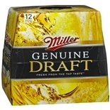 Miller Beer Genuine Draft,12 oz Bottles