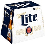 Miller Lite Beer 12 Pack 12 oz Bottles