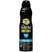 Banana Boat for Men Triple Defense UltraMist Clear Spray Sunscreen SPF 30