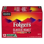 Folgers Gourmet Selections Ground Coffee K-Cups 12 Pack Classic Roast
