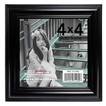 Home Elements Wood Picture Frame 4 x 4 in Assorted Black & Silver