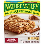 Nature Valley Soft-Baked Oatmeal Squares 6 Pack Cinnamon Brown Sugar