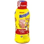 Nestle Nesquik Lowfat Milk 14 oz Bottle Strawberry