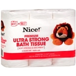 Nice! Premium Ultra Strong Bath Tissue 6 Rolls