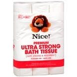 Nice! Premium Ultra Strong Bath Tissue 12 Rolls