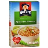 Quaker Instant Oatmeal 10 Pack Apples & Cinnamon