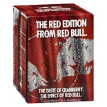 Red Bull Energy Drinks 4 Pack 8.4 oz Cans Cranberry
