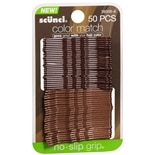 No-Slip Grip Color Match Bobby Pins Brown