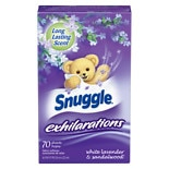 Snuggle Exhilarations Fabric Softener Sheets White Lavender & Sandalwood
