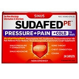 Sudafed Pressure & Pain & Cold Tablets