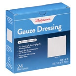 Walgreens Deluxe Gauze Dressings