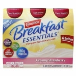Carnation Breakfast Essentials Complete Nutritional Drink, Bottles Creamy Strawberry