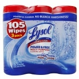 Lysol Power & Free Disinfecting Wipes Oxygen Splash