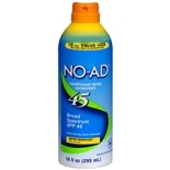 NO-AD Continuous Spray Sunscreen, SPF 45