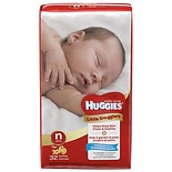Huggies Little Snugglers Diapers, Jumbo Pack Size 1, up to 14 lbs, 32 ea