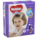 Huggies Little Movers Diapers, Jumbo Pack Size 5, 27+ lbs, 21 ea