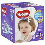 Huggies Little Movers Diapers, Big Pack Size 5, 27+ lbs, 50 ea