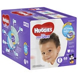 Huggies Little Movers Diapers, Big Pack Size 3, 16-20 lbs, 68 ea